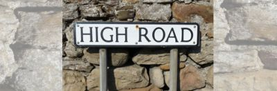 Halton High Road Sign To Size